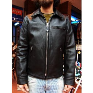 ショットトラッカーレザージャケットSCHOTT TRUCKER LEATHER JACKET 103US  BLACK|fullnelsonhalf