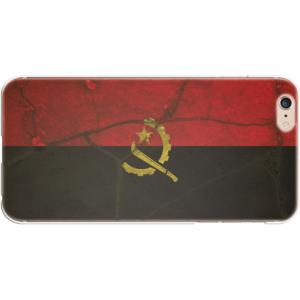 スマホケース 国旗 アンゴラ スマホカバー  (iPhone6 Plus-6s Plus用)(レトロクラック) (ネコポス可)|fun-create