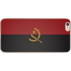 スマホケース 国旗 アンゴラ スマホカバー  (iPhone6 Plus-6s Plus用)(ダークカラー) (ネコポス可)|fun-create