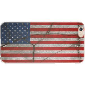 スマホケース 国旗 アメリカ スマホカバー  (iPhone6-6s-7-8用)(レトロクラック) (ネコポス可)|fun-create