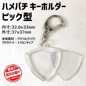 ハメパチ キーホルダー 【ピック型】 手作り プレゼント 記念品 材料  (ネコポス可) fun-create