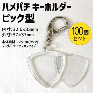 ハメパチ キーホルダー 【 ピック型 】【100個セット】 手作り プレゼント 記念品 材料 fun-create