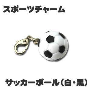 チャーム 【 サッカーボール 黒白 】 ミニフィギュア キーホルダー ストラップ 記念品 プレゼント オリジナル (ネコポス可)|fun-create