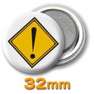 缶バッジ(道路標識)マグネット32mm (ネコポス可) |fun-create