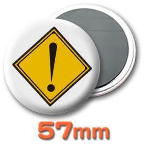 缶バッジ(道路標識)マグネット57mm (ネコポス可) |fun-create