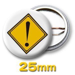 缶バッジ(道路標識)ピンバッヂ25mm (ネコポス可) |fun-create