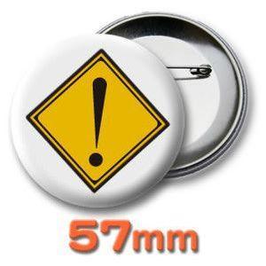 缶バッジ(道路標識)ピンバッヂ57mm (ネコポス可) |fun-create