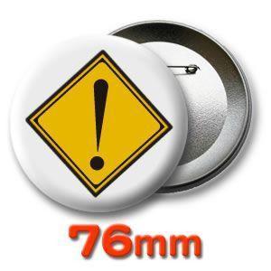 缶バッジ(道路標識)ピンバッヂ76mm (ネコポス可) |fun-create