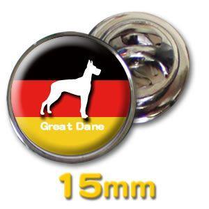 (ネコポス可) デザイン ピンズ(ペット DOG&CAT)15mm|fun-create