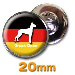 (ネコポス可) デザイン ピンズ(ペット DOG&CAT)20mm|fun-create