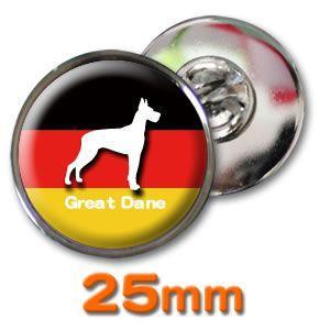 (ネコポス可) デザイン ピンズ(ペット DOG&CAT)25mm|fun-create