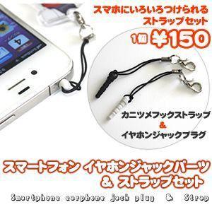 (ネコポス可)スマートフォン イヤホンジャックパーツ & ストラップセット|fun-create