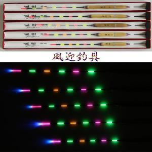 即納 訳あり ナイターウキ へらぶな 釣用 6点灯 電気浮子( 電子ウキ ) 全長33cmの1本 XH-55|fun200988|02