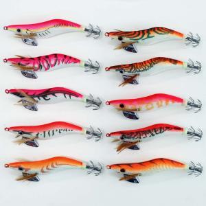夜光 エギ 2.5号 ピンク・オレンジ系 10個 セット イカ釣り エギング セット 仕掛け【Y20egi25hPK10】|fun200988