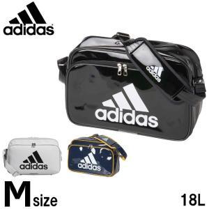 アディダス(adidas) エナメルバッグ Mサイズ (メンズ レディース バッグ ショルダーバッグ...