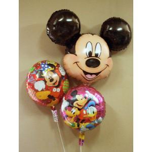 ディズニーミッキーマウス3個セット 補充用ヘリウム付|funari