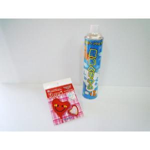 簡単バルーン アルミ風船・ヘリウム缶セット ありがとう レッド スウィートハート型|funari