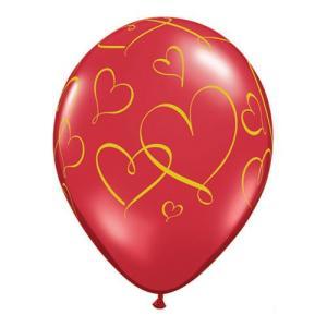 Qualatex ロマンティックハーツ 10個入り|funari
