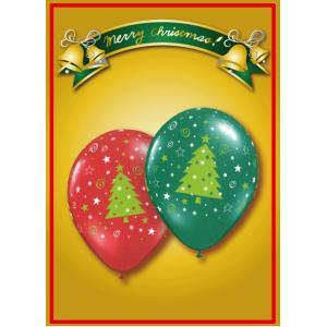 Qualatex クリスマスツリースター&スウィルエメラルドグリーン・ ルビーレッド10個入り|funari
