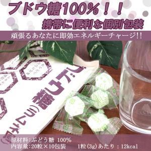 やさしい口どけ ブドウ糖 100% ラムネ 携帯に便利 個別 包装 衛生的 (20粒×10袋) funfunshop 02
