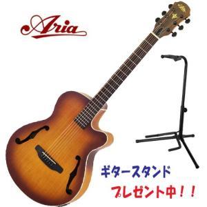 ギタースタンド・プレゼント中!| ARIA FET-F1 / LVS  ライト・ヴィンテージ・サンバースト / アリア F-ホール仕様の個性派エレアコ!|funhoused