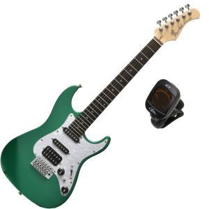 使えるミニ・ギター!バッカスのミニ・ストラト|Bacchus GS-mini GRM グリーン・メタリック / コイルタップ搭載!|クリップチューナー・プレゼント中!|funhoused