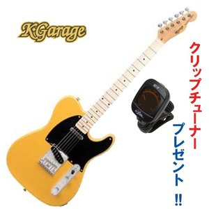 【今なら、クリップチューナー・プレゼント】K.Garage KTL-160 / BSB /ケイ ガレージ テレキャスター タイプ / バター・スコッチ・ブロンド / エレキギター|funhoused
