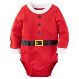 カーターズ Carter's ボディースーツ ロンパース サンタスーツ クリスマス 119G133 コットン 綿 100% 男 女 3M 9M 12M xmas 着ぐるみ 子供服 ベビー服 新生児|funks-store