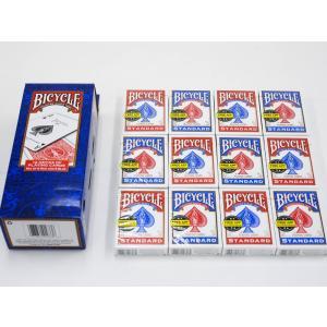 トランプ バイスクル カード 12個セット プロ仕様 マジック用 マジシャン ポーカー BICYCLE バイシクル 赤6個 青6個 合計12個セット