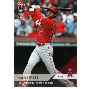 Topps NOW 大谷翔平ルーキーカード#553 2018.8.3 MLBキャリア初1試合2ホームラン、4安打 英語版|funks0117