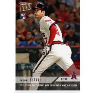 TOPPS NOW 大谷翔平#650 MLB史上3人目の快挙、今季15本4勝を達成 英語版|funks0117
