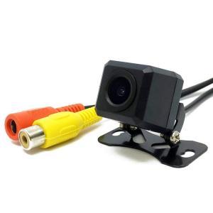 超小型防水IP67CCD フロントカメラ リヤカメラ 視野角度120度 正像・鏡像切替機能 ガイドライン有・無し機能 角型ナイトビジョン カラーカメラ A206C|funlife