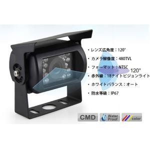 SHARP CCDレンズ 24V対応 トラック バス 重機 バックカメラシステム モニター解像度アップ 7インチモニター+バックカメラ+20Mケーブル OMT70SET-PRO|funlife|04