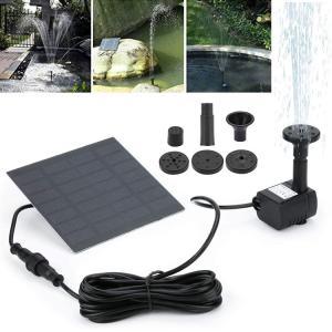 ソーラーパネル発電噴水 池でも使えるソーラー池ポンプ 家庭用ポンプ 庭園観賞池ポンプ h4009 funlife