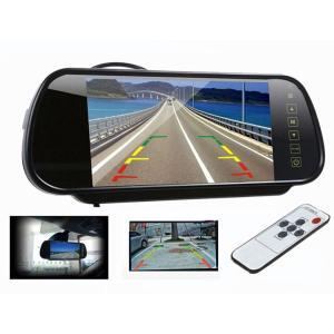 7インチ ルームミラーバックモニター バックカメラ自動切換え機能付きリモコン付き タッチボタン TFT/LCD液晶 700h|funlife