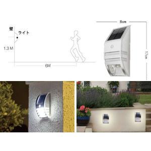 人体検知/光センサー搭載防水ソーラーライト エコ ガーデン 節電 防犯 面倒な配線は一切不要アウトドアーライト 環境に優しい(防水、電池不要)sl02 funlife