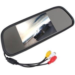 5インチルームミラーモニター 12/24V対応 2映像入力 バックカメラ自動切換 軽量 RM5|funlife