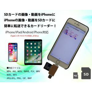 SDカード及びmicroSDカードスロットを備えたカードリーダー!、  LT端子でiPhone6、i...