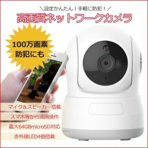 720P ネットワークカメラ マイク内蔵 家庭・駐車場監視カメラ 100万画素 ベビーモニター 355度水平回転 メモリカード対応 暗視対応 P2P遠隔操作 632KC|funlife