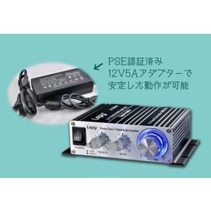 Lepy 最新版 デジタルアンプ LP-2024S  2024Aの改良版 オリジナル PSE認証 12V 5Aアダプター付属 LP-2024S|funlife