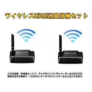 ワイヤレスHDMI送受信機セット 映像&音声をワイヤレスで送受信 HDMI無線転送 受信機複数台追加対応可能 受信機側リモコン操作可 通信距離最大50m VT58