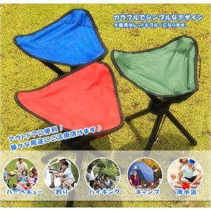 アウトドアに便利 レジャー/折りたたみ椅子/ハイシート チェア/軽量 コンパクトチェア/三脚チェア 三脚折り畳み椅子 AT6733|funlife|02