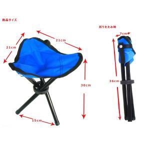 アウトドアに便利 レジャー/折りたたみ椅子/ハイシート チェア/軽量 コンパクトチェア/三脚チェア 三脚折り畳み椅子 AT6733|funlife|06