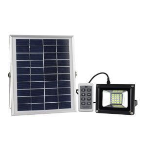 リモコン操作 屋外用LEDガーデンライト ソーラーパネル5W 充電式 LED最大出力10W 高輝度LED20灯 防水仕様 夜間自動点灯 光量調節可 太陽光 経済的 RM20SLED funlife