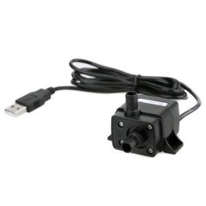 汎用ミニ水中ポンプ USB駆動 小型ブラシレスポンプ 静音設計 流量120L/h 最大揚程30cm 省電力 ミニウォーターポンプ USB噴水ポンプ 水槽内の循環に PAD500USB|funlife