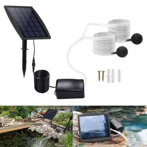 ソーラー充電式エアポンプ 酸素パイプ 2.5W発電パネル 太陽光充電で電源不要 エア吐出量毎分1〜2L 各種水槽の酸素供給に 池用ソーラー酸素ポンプ BSVAP05|funlife