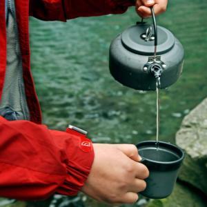 [ALOCS]キャンプ・アウトドア用ケトル ポータブルやかん 0.8L お茶 コーヒー ポット 軽量 登山 BBQ 野外 収納袋付き 硬質アルミ 携帯用ケトル ALOCWK02|funlife|07
