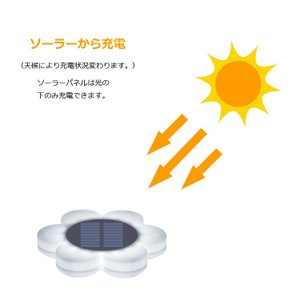 花型ソーラーLEDライト イルミネーション ガーデンライト ソーラー充電 防水 光センサー 夜間自動点灯 7色変化 8種モード 庭 芝生 公園 フラワーライト BSVFL017|funlife|03