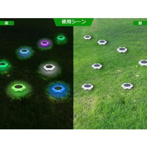 花型ソーラーLEDライト イルミネーション ガーデンライト ソーラー充電 防水 光センサー 夜間自動点灯 7色変化 8種モード 庭 芝生 公園 フラワーライト BSVFL017|funlife|08
