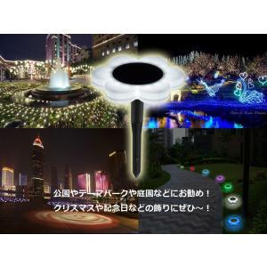 花型ソーラーLEDライト イルミネーション ガーデンライト ソーラー充電 防水 光センサー 夜間自動点灯 7色変化 8種モード 庭 芝生 公園 フラワーライト BSVFL017|funlife|10